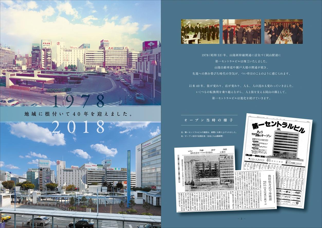 セントラルビル40周年記念誌 デザイン、冊子制作、取材