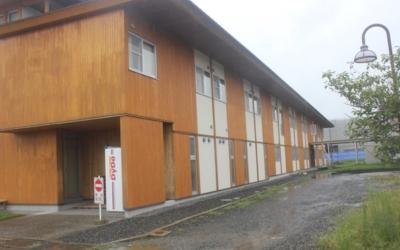 農林水産総合センター 研修交流ホールの北面外壁再塗装  木材劣化診断士塗装のむずかしさ編 安田 年一