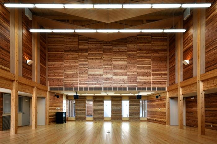 岡山県農林水産総合センター 農業大学校 木造研修交流施設