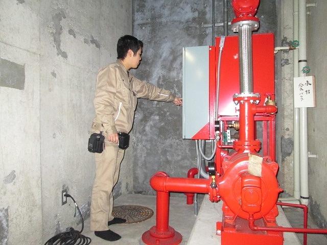 屋外用消火栓ポンプ